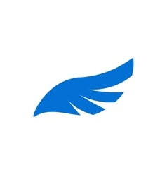 Blue angel wing icon simple style vector image vector image