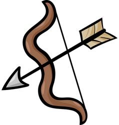 Bow and arrow clip art cartoon vector