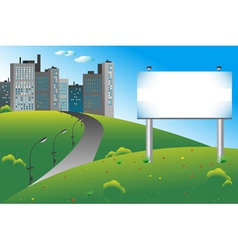 city billboard vector image vector image