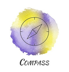 Compass watercolor concept vector