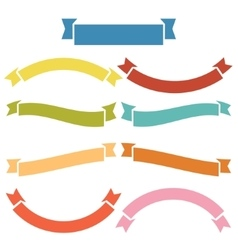 Complete of banners and ribbons vector