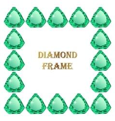 Emerald square frame vector