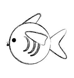 fish cartoon isolated vector image vector image