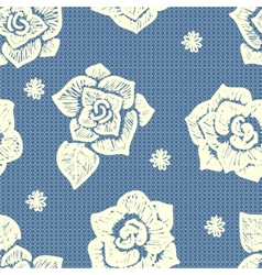 floral lacy seamless pattern vector image