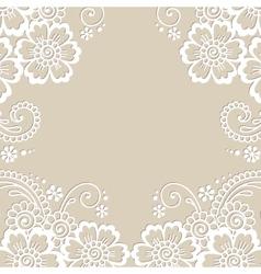Flower ornament frame vector