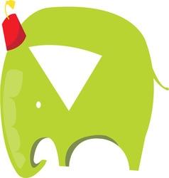 Green elephant vector