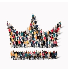 group people shape crown vector image vector image