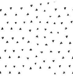 Hand drawn seamless pattern with triangles vector image vector image