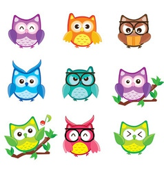 Happy Owls vector image vector image