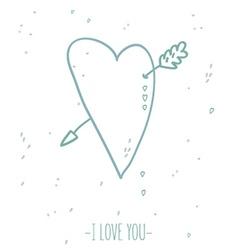 Heart card love vector