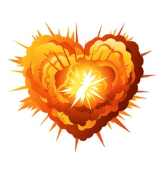 Heart Explosion vector image vector image