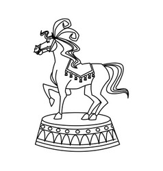 Horse circus animal character image vector