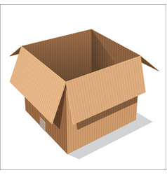 isolated open box - vector image