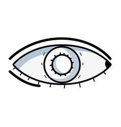 Line heathy eye vision and optical care vector