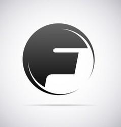 Logo for letter f vector
