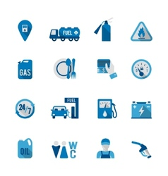 Set of fuel station icon vector