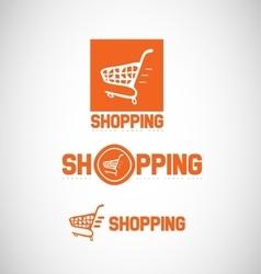 Shopping cart logo icon vector