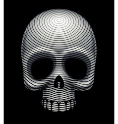 Skull engraving imitation vector image