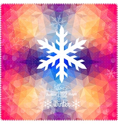Snowflake abstract snowflake on geometric pattern vector