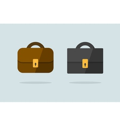 Two briefcase icons flat design vector