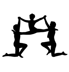 Very high quality of gymnasts vector image vector image