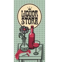 Wine store vector