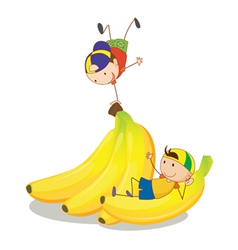 Banana kids vector