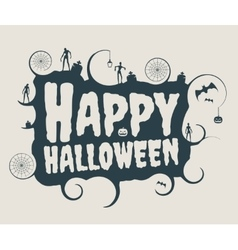 Halloween text calligraphy vector