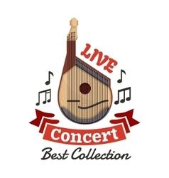 Live instrumental music concert emblem vector