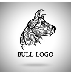 Bull logo template for sport teams vector