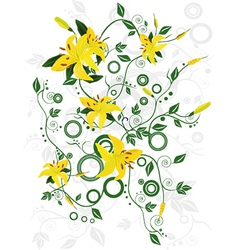 Ornament with flowers vector