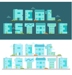 Real estate - the word  alphabet vector