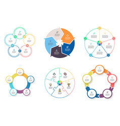 Business infographics diagrams with 5 steps vector