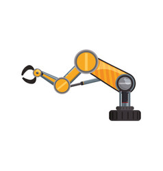 Robotic arm technology vector