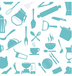 Kitchen cutlery tools icons vector