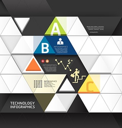 Abstract infographic design minimal triangle shape vector
