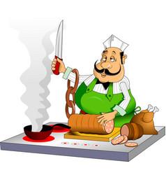 melancholic cook vector image