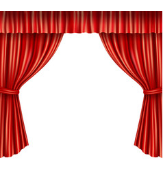 Theater curtains isolated vector image