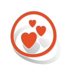 Love sign sticker orange vector
