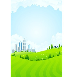 park and city vector image