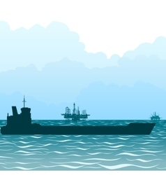 Oil tankers vector