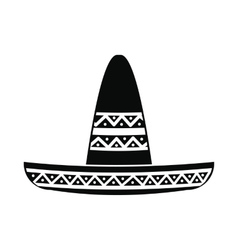 Sombrero icon simple style vector