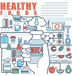 Infographics elements concept of healthy foods vector