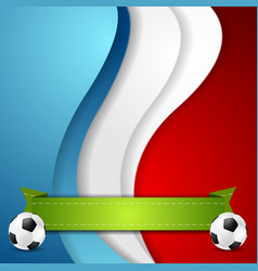 Euro football championship 2016 in france vector