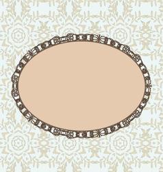 Oval vintage style frame vector image