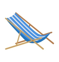 Summer beach sunbed lounger vector