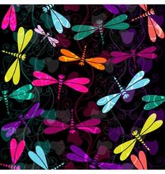 Seamless dark pattern vector image
