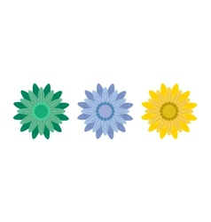 Abstract Flowers on White Background vector image vector image
