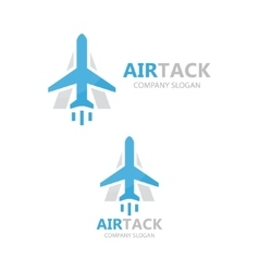 airplane and a letter logo design vector image vector image
