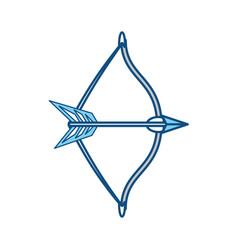 Arch bow arrow vector